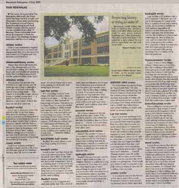 Many comments that were left on the website were published in the printed paper. Click here for full size