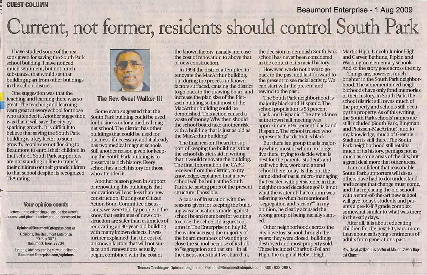 southeasttexas political review