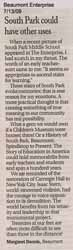 Letter to the Editor - by Margaret Dennis 7/13/09