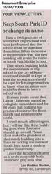 Letter to the Editor - submitted by Lou Bodden Buxton
