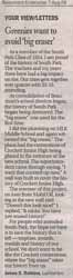 Letter to the Editor - by James S Robbins 8/7/09