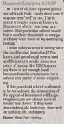 Letter to the Editor - submitted by Sharon Voss